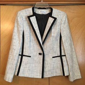 Kasper blazer jacket in black & white 14P 14 P